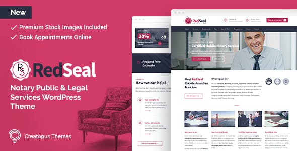 Redseal Notary Public And Legal Services WordPress Theme Business Corporate