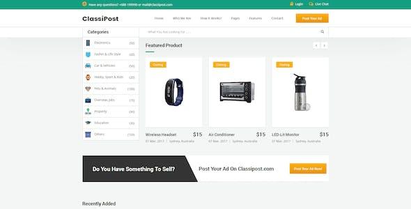 ClassiPost - Classified Ads HTML Template