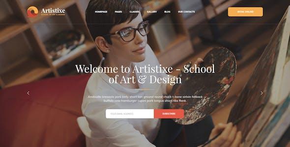 Artistixe - School of Art & Design PSD Template