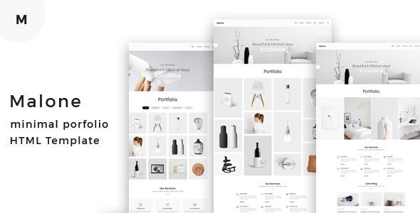 Malone - Minimal Portfolio HTML Template - Portfolio Creative