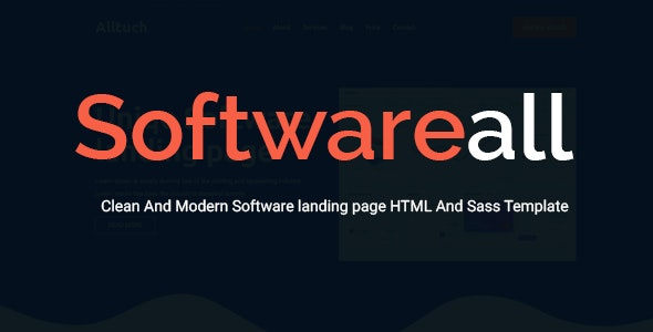 Softwareall - Software landing Page HTML And Sass Template - Software Technology