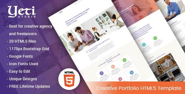 Yeti - Creative Portfolio HTML5 Template - Portfolio Creative