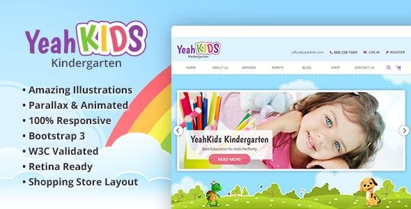 Yeah Kids - Children & Kindergarten HTML Template - Children Retail