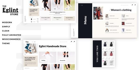 Eglint - Minimal and Modern WooCommerce Theme - WooCommerce eCommerce