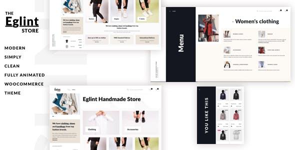 Eglint - Minimal and Modern WooCommerce Theme