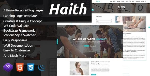 Haith | Landing Page Portfolio Template - Site Templates