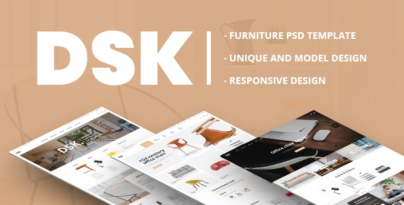 DSK - Furniture PSD Template - Retail Photoshop