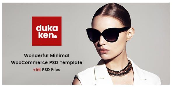 Dukaken | Wonderful WooCommerce PSD Template