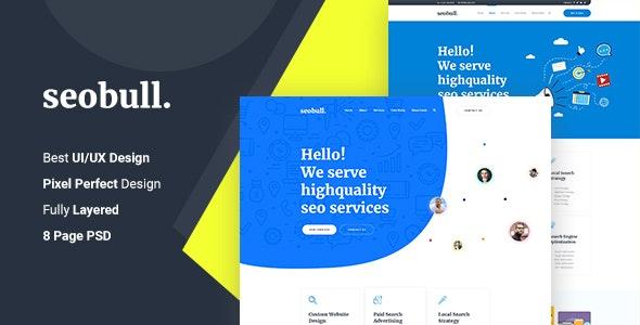 Seohub -  Startup & Agency PSD Template - Technology Photoshop