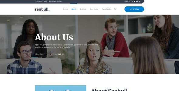 Seohub -  Startup & Agency PSD Template