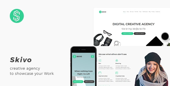 Skivo - Creative Agency Landing Page with Blog - Business Corporate
