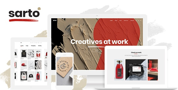 Sarto -  Web Design & Creative Agency Theme - Portfolio Creative