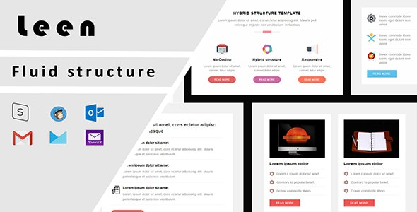 Leen Responsive Email Template + Stampready drag and drop - Email Templates Marketing