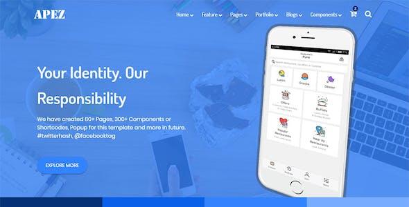 APEZ - Responsive Multi-Purpose HTML5 Template + Admin Template