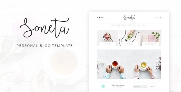 Soneta - Personal Blog PSD Template - Personal Photoshop