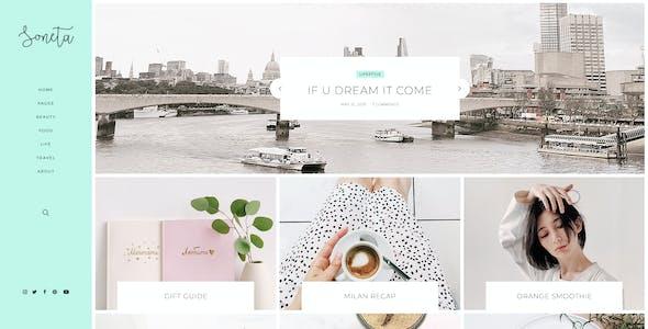 Soneta - Personal Blog PSD Template