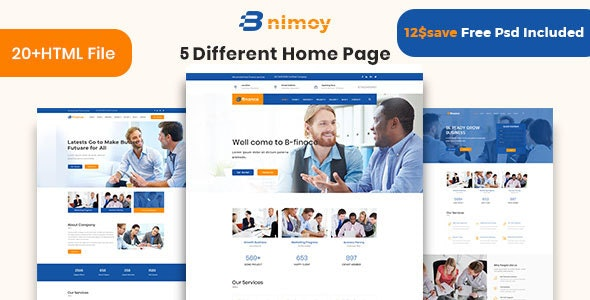 Binimoy - Finance & Business HTML5  Template - Corporate Site Templates