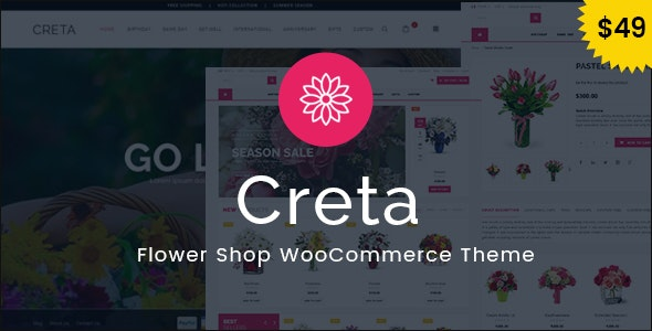 Creta - Flower Shop WooCommerce WordPress Theme - WooCommerce eCommerce