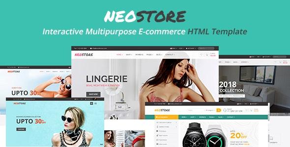 Neostore - Interactive Multipurpose Ecommerce HTML Template - Retail Site Templates