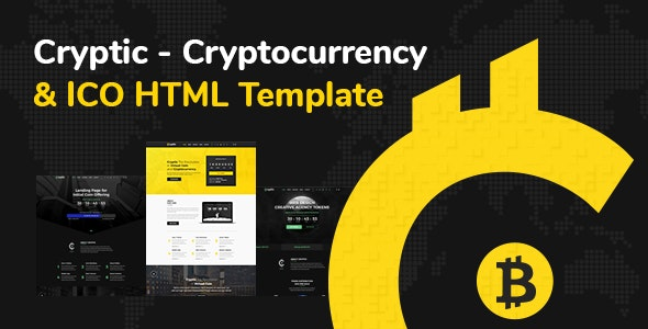 Cryptic - Cryptocurrency & ICO Landing Page HTML Template - Technology Site Templates