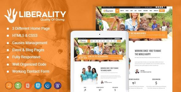 Liberality Charity HTML Template - Charity Nonprofit