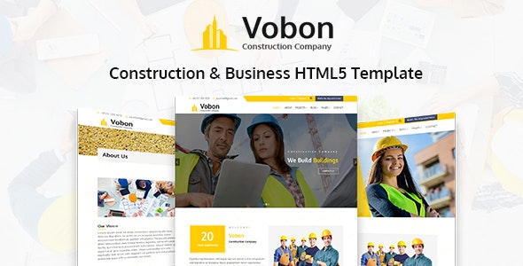 Vobon | Construction And Business HTML5 Template - Business Corporate