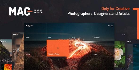 MAC - Photography Fullscreen WordPress Theme - Photography Creative