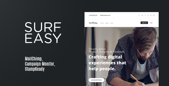 SurfEasy | Email Newsletter - Email Templates Marketing