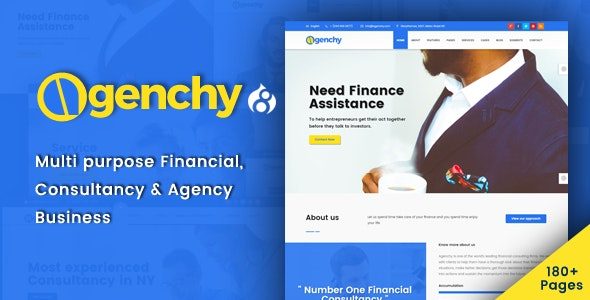 Agenchy - Modern Multipurpose Drupal 8.8 Theme - Business Corporate