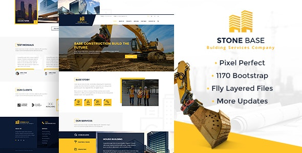 Stone Base | Construction & Building PSD Template - Business Corporate