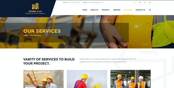Stone Base | Construction & Building PSD Template