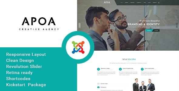 Apoa - Business Responsive Joomla Theme - Joomla CMS Themes