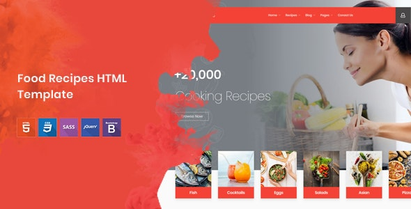 Cook Note - Food Recipes HTML Template - Food Retail