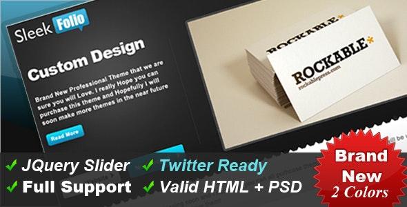SleekFolio - Web 2.0 Designer Portfolio Design - Portfolio Creative