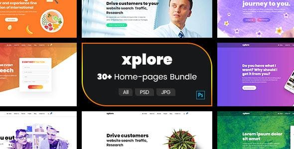 Xplore - Multipurpose Website Business PSD Template - Business Corporate