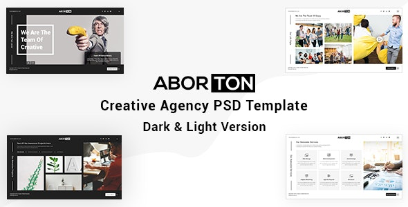 Aborton - Creative Agency PSD Template - Creative Photoshop