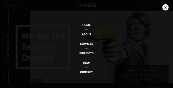 Aborton - Creative Agency PSD Template