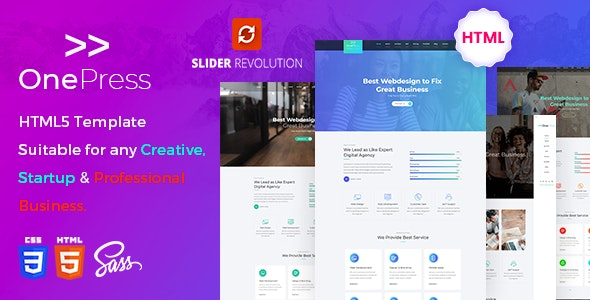 One Press - Business Agency Template - Creative Site Templates