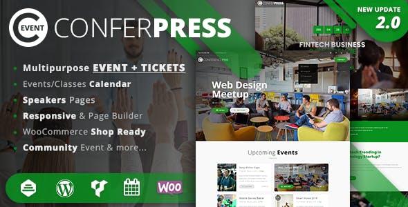 ConferPress - Multipurpose Event Tickets WordPress Theme