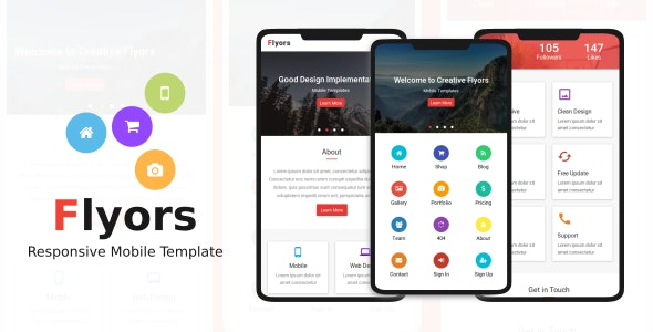 Flyors - Responsive Mobile Template - Mobile Site Templates