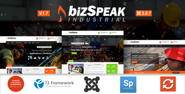 BizSpeak - Industrial Joomla Business Template - Business Corporate