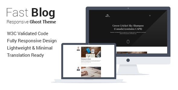 Fastblog - Responsive Ghost Theme for Blogging - Ghost Themes Blogging