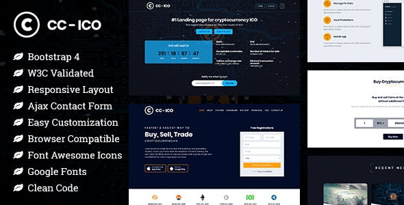 CCICO - Bitcoin and Cryptocurrency HTML Landing Page