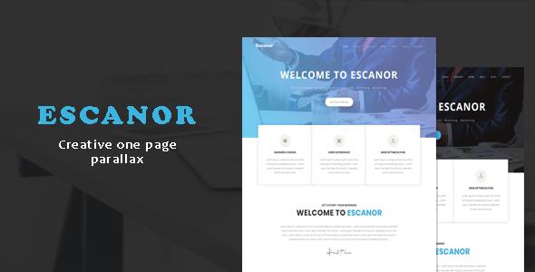 Escanor - One Page Creative Parallax Template - Creative Site Templates