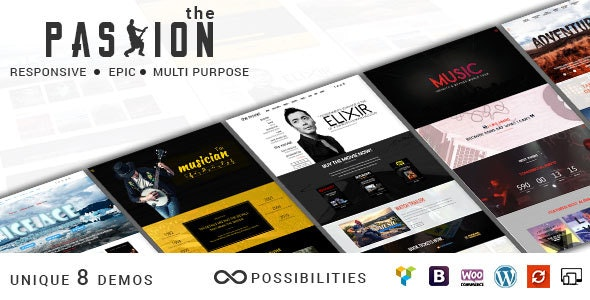 THE PASSION - Multipurpose Movie Video & Music WP Theme - Film & TV Entertainment