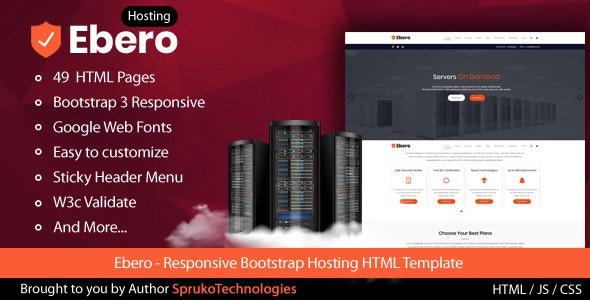 Ebero - Hosting HTML Template - Hosting Technology