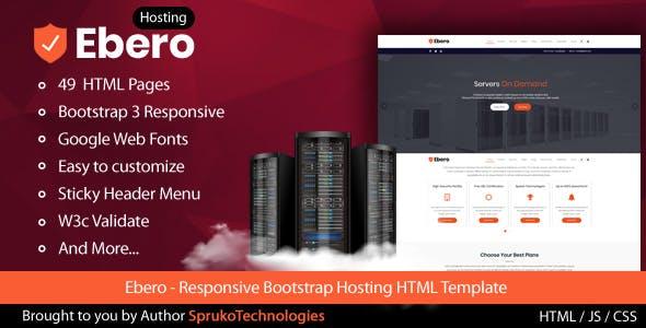 Ebero - Hosting HTML Template