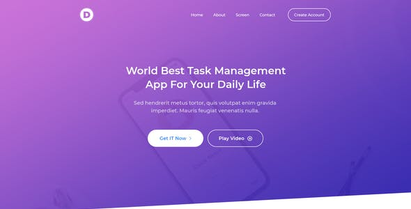 Ambition - App Landing Page