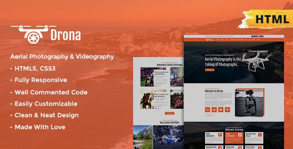 Drona   Aerial Photography & Video Html Template - Technology Site Templates