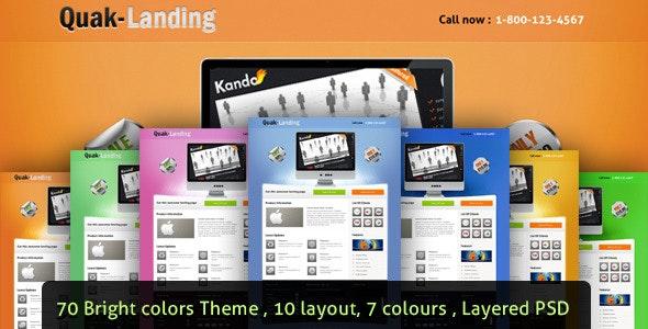 Quak - Landing page 70 variations - Landing Pages Marketing